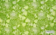 Uf_2217 'Caribbean' | Curtain & Upholstery fabric - Green, Floral, Garden, Outdoor Use, Synthetic fibre, Domestic Use