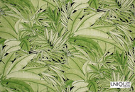 Uf_2553 'Palm'   Curtain & Upholstery fabric - Green, Floral, Garden, Natural fibre, Tropical, Domestic Use, Natural