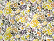 Uf_2569 '19478/193' | Curtain & Upholstery fabric - Gold - Yellow, Floral, Garden, Natural fibre, Domestic Use, Natural
