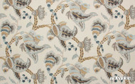 Uf_2684 '44090/387' | Curtain Fabric - Brown, Craftsman, Fiber blend, Floral, Garden, Jacobean, Traditional