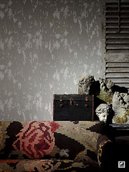 Andrew Martin Compass   Crackle  - Blue  | Wallpaper, Wallcovering - Grey, Industrial, Domestic Use, Print