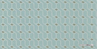 Uf_3127 'Twist' | - Blue, Midcentury, Turquoise, Teal, Domestic Use, Non-woven