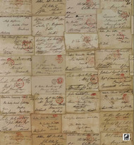 Andrew Martin Inventor Love Letter - Parchment  | Wallpaper, Wallcovering - Brown, Midcentury, Domestic Use, Print