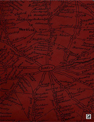 Andrew Martin Inventor Traveller - Clay  | Wallpaper, Wallcovering - Red, Contemporary, Domestic Use