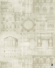 Andrew Martin Attic Augustus - Pencil  | Wallpaper, Wallcovering - Domestic Use, Figurative, Print