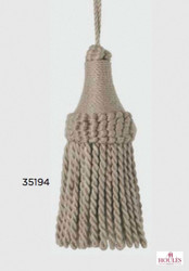Uf_3890 'De' | Key Tassel, Curtain & Upholstery, Trim - White, Natural fibre, Traditional, White, Natural