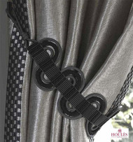 Houles Neox   35319 Neox Wave Tieback  - 35319.9025  | Tie back, Curtain Accessory - Grey, Contemporary, Fiber blend