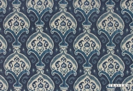 Uf_0123 'New' | Curtain Fabric - Blue, Damask, Natural fibre, Traditional, Natural