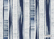 Uf_0176 'Indigo' | Curtain & Upholstery fabric - Blue, Eclectic, Natural fibre, Stripe, Domestic Use, Natural