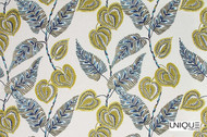Uf_0662 'Aloe' | Curtain & Upholstery fabric - Green, Floral, Garden, Midcentury, Natural fibre, Domestic Use, Natural