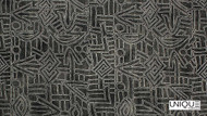 Unique Fabrics Zambesi Isaka - Stone  | Curtain & Upholstery fabric - Black - Charcoal, Eclectic, Natural Fibre, Domestic Use, Natural, Standard Width
