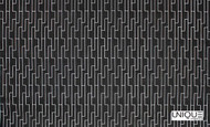 Unique Fabrics Outlines Labyrinth - Chalk  | Upholstery Fabric - Black - Charcoal, Eclectic, Geometric, Outdoor Use, Synthetic, Domestic Use, Standard Width
