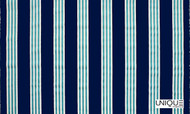 Unique Fabrics Outstanding II Limit - Caribbean  | Curtain & Upholstery fabric - Blue, Teflon, Outdoor Use, Stripe, Synthetic, Domestic Use, Standard Width