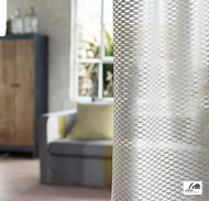 Cetec Shades Of Comfort Nets - 1099005312  | Curtain Fabric - White, Contemporary, Industrial, Modern, Pattern, Synthetic, White, Standard Width