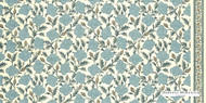 Uf_2675 '21137/154' | Curtain Fabric - Blue, Floral, Garden, Jacobean, Natural fibre, Traditional, Natural