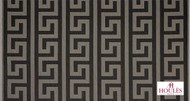 Uf_2845 '' | Curtain Fabric - Black, Natural fibre, Traditional, Black - Charcoal, Natural, Fret - Greek Key