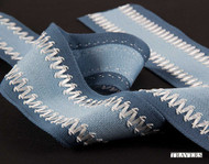 Uf_3558 'Ribbon' | Gimps & Braids, Curtain & Upholstery Trim - Blue, Synthetic fibre, Traditional