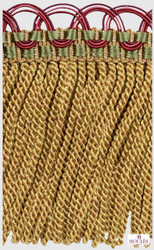 Houles  33106 Antica Twisted Frin  - 100  | Fringe, Curtain & Upholstery Trim - Gold,  Yellow, Contemporary, Fiber blend