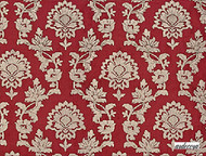 Uf_0013 '' | Curtain Fabric - Red, Craftsman, Damask, Red, Synthetic fibre, Traditional