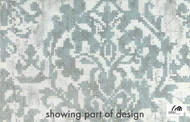 Uf_0265 '' | Curtain Fabric - Blue, Grey, White, Craftsman, Damask, Floral, Garden, Natural fibre, Traditional, White, Natural