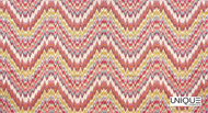 Uf_1225 'Jewel'   Curtain & Upholstery fabric - Eclectic, Fiber blend, Many-Coloured, Pink - Purple, Domestic Use, Chevron, Zig Zag