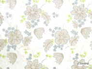 Etamine Optimiste Eugenie - 19468/443  | Curtain Fabric - Gold,  Yellow, Fibre Blends, Floral, Garden, Tan, Taupe, Standard Width