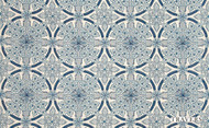 Uf_0926 'Spring' | Curtain Fabric - Blue, Damask, Eclectic, Floral, Garden, Natural fibre, Traditional, Natural
