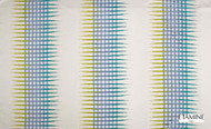 Etamine Cosmos-saison Gamma - 19508.143  | Curtain Fabric - Blue, Natural Fibre, Stripe, Natural, Standard Width