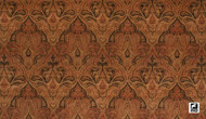 Uf_1006 'Charcoal' | Curtain & Upholstery fabric - Brown, Craftsman, Damask, Fiber blend, Traditional, Domestic Use