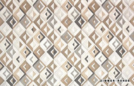 Uf_0095 '10625/145' | Curtain Fabric - Brown, Eclectic, Midcentury, Natural fibre, Natural
