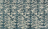 Uf_0332 '44088/588' | Curtain & Upholstery fabric - Blue, Eclectic, Fiber blend, Domestic Use