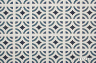 Travers New Classics Carson Tile - 44112.396  | Curtain & Upholstery fabric - Blue, Asian, Eclectic, Midcentury, Synthetic, Chinoise, Standard Width