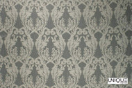 Unique Fabrics Bedouin   La Grande  - Alabaster  | Curtain & Upholstery fabric - Grey, Craftsman, Damask, Synthetic, Traditional, Domestic Use