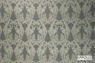 Unique Fabrics Bedouin La Grande - Alabaster    Curtain & Upholstery fabric - Grey, Craftsman, Damask, Synthetic, Traditional, Domestic Use, Standard Width