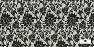 Uf_1489 'CH2794/020' | Upholstery Fabric - Black, Craftsman, Floral, Garden, Synthetic fibre, Traditional, Black - Charcoal, Domestic Use