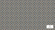 Uf_2150 'CA1312/020' | Curtain & Upholstery fabric - Grey, Asian, Synthetic fibre, Domestic Use, Chinoiserie - Chinoise, Lattice - Trellis