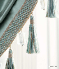 Travers Place Vendome   Linen Tassle  - 60036.397  | Fringe, Curtain & Upholstery Trim - Green, Fiber blend, Traditional