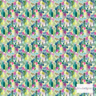Bluebellgray Wee Rothesay - Multi  | Curtain & Upholstery fabric - Blue, Deco, Decorative, Multi-Coloured, Natural Fibre, Pink, Purple, Abstract, Domestic Use, Dry Clean