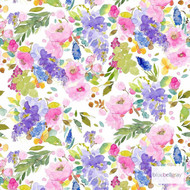 Bluebellgray Wisteria - Multi    Curtain & Upholstery fabric - Blue, Deco, Decorative, Farmhouse, Floral, Garden, Multi-Coloured, Natural fibre, Domestic Use, Dry Clean, Natural, Top of Bed
