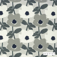peg_30284-104 'Pebble' | Curtain Fabric - Grey, Floral, Garden, Midcentury, Natural fibre, Domestic Use, Natural, Top of Bed
