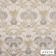 Catherine Martin By Mokum Flamingo - Sand 821  | Upholstery Fabric - Stain Repellent, Fire Retardant, Art Noveau, Craftsman, Damask, Eco Friendly, Floral, Garden, Organic, Synthetic, Tropical