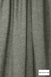 Mokum Lino * - Midnight  | Curtain & Curtain lining fabric - Plain, Black - Charcoal, Natural Fibre, Washable, Domestic Use, Dry Clean, Natural, Wide Width