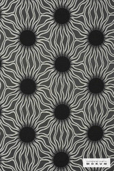 Catherine Martin By Mokum Helios - Onyx 862  | Upholstery Fabric - Stain Repellent, Fire Retardant, Black - Charcoal, Contemporary, Deco, Decorative, Eclectic, Organic