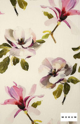 mok_12237-105 'Magenta' | Curtain & Upholstery fabric - Deco, Decorative, Floral, Garden, Natural fibre, Pink - Purple, Domestic Use, Natural, Top of Bed