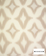 Mokum Atoll - Sand  | Curtain Sheer Fabric - Fire Retardant, White, Geometric, Midcentury, Outdoor Use, Synthetic, Tan, Taupe, Transitional, Washable, Commercial Use, White