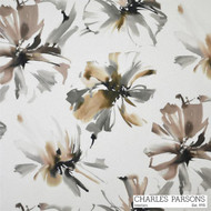 Mocha' | Curtain Fabric - Brown, Floral, Garden, Synthetic fibre, Uncoated, Washable, Domestic Use
