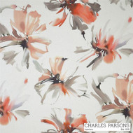 Charles Parsons Tropicana - Watermelon  | Curtain Fabric - Floral, Garden, Synthetic, Uncoated, Washable, Domestic Use