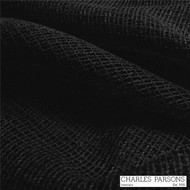 Charles Parsons Rossini - Black    Curtain Sheer Fabric - Fire Retardant, Plain, Black - Charcoal, Synthetic, Uncoated, Domestic Use, Weighted Hem