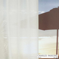 Charles Parsons Sable - Ivory  | Curtain Sheer Fabric - Fire Retardant, Plain, White, Synthetic, Uncoated, Washable, Domestic Use, White