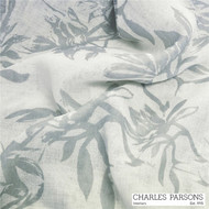 Charles Parsons Provence - Platinum  | Curtain Sheer Fabric - Grey, Floral, Garden, Synthetic, Traditional, Uncoated, Washable, Domestic Use, Weighted Hem, Wide Width
